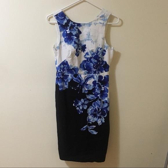 a14e32b5 Anthropologie Dresses   Maeve Blue Floral Sheath Dress   Poshmark